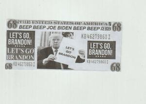 NASCAR Pro Trump,Lets Go Brandon 68 Dollars Beep Beep Joe Biden Novelty Bill ...