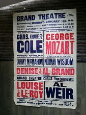 More details for variety theatre poster 1946,london basingstoke grand,norman wisdom,al weir,georg