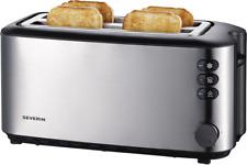 Severin AT 2509 Toaster Edelstahl-Schwarz