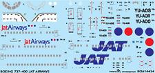 Boeing 737-400 Jat Airways # 14434 1/144 boa decal set