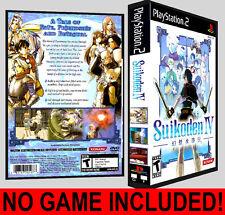 Suikoden IV 4  - PS2 Reproduction Art DVD Case No Game