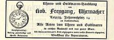 Rob. Freygang Leipzig UHRMACHER Historische Reklame von 1904