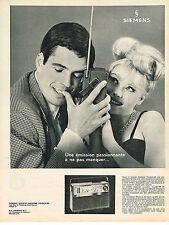 PUBLICITE ADVERTISING 034   1963   SIEMENS  transistor CLUB RK 45