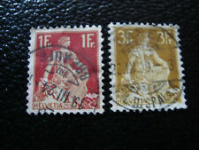 SUISSE - timbre - yvert et tellier n° 126 127 obl (A7) stamp switzerland