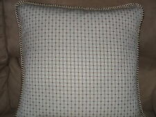 Pillow Robert Allen's Diamond Pattern Taupe & Ivory Check Plaid Twist Cord Trim