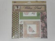 assortiment 13 feuilles papiers, thème:rose, 10 modèles différents,(30,5X30,5cm)