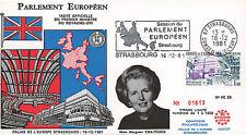 """PE28-T1 FDC Parlement européen """"Visite Margaret THATCHER, Royaume-Uni"""" 12-1981"""