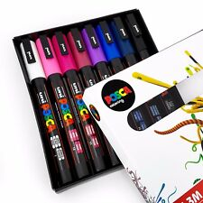 Uni POSCA - PC-3M Art Paint Markers - Midnight Tones - Set of 8 - In Gift Box