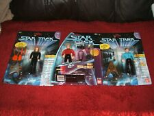 PLAYMATES BANDAI STAR TREK OBRIEN, MCCOY, CRUSHER EURO EDITIONS FACTORY SEALED