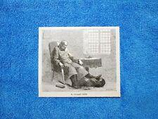 Gravure Année 1862 - Le colonel exile - Il colonello in esilio