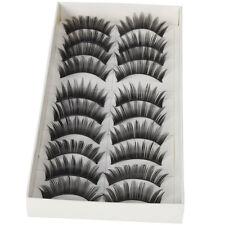 10 Pairs Makeup Handmade False Eyelashes Long Eye Lashes Natural Thick Extension