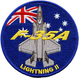 F-35A + Australian Flag RAAF Embroidered Patch