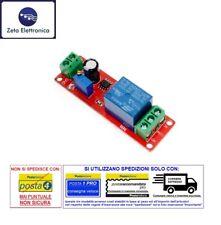 MODULO DI RITARDO 12V ATTIVAZIONE RITARDATA CON TIMER NE555 E RELE' RELAY LED