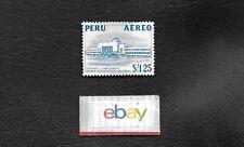 LIMA PERU AEREO AIR MAIL STAMP LIMA TAMBO AEROPUERTO AIRPORT 1950'S STAMP DC-6