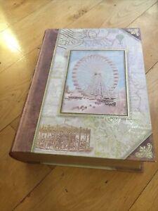 PUNCH STUDIO Decorative Hollow Faux Book Secret Storage Keepsake Box