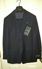 Ralph Lauren Total Comfort 2PC Suit Navy Wide Pinstripe w Pleated Pants 39Reg33W