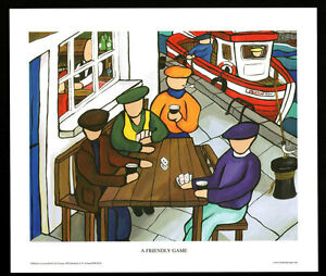 A Friendly Game/Cards/N/Irish Art Group/Fine Print/Martin Laverty/Ireland/New