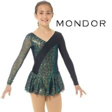 MONDOR Black Sparkly FIGURE SKATING Competition DRESS NEW Adult Small
