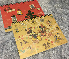 Disney Mickey Mouse Sketch Book Minnie Drawing Schedule Diary Note Painting Gift