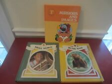 Lot of 3 1980's School Readers - Mirrors and Images, Small World & In the Wild