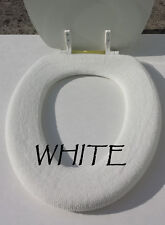 Bathroom Toilet Seat Warmer Cover  Washable High Quality- White - LifeLong Needs