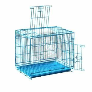 Stylish Double Door Folding Metal Cage With Paw Protector For Guinea Pig Rabbits