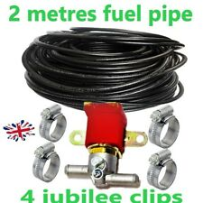12v Anti Theft Solenoid Valve fuel Cut Off SHUT OFF+2 metres petrol diesel pipe