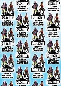FORTNITE Renegade and Drift Personalised Gift Wrap - Fortnite Wrapping Paper