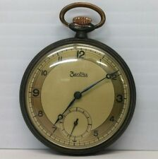 Rare Vintage Zentra Mechanical Pocket Watch 48mm