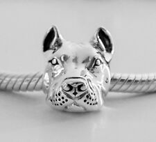 Pit Bull Charm - Sterling Silver - For European Style Charm Bracelets - Cropped