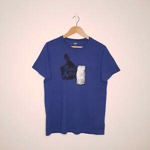 Santa's A List Print Blue T-Shirt Tag size: S