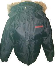 US Polo ASSN Men's Blue Puffer Coat Jacket Sz 2X with Faux Fur Hood.