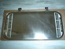 Vintage Sun Visor Mirror With Service And Travel Record Accessory Clips On Visor