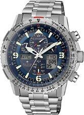 NEU Citizen Silber Herren Armbanduhr Promaster Sky JY8100-80L