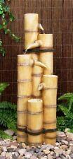 Fontaines d'extérieur en bambou