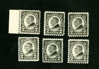 US Stamp # 612 VF Lot of 6 OG NH