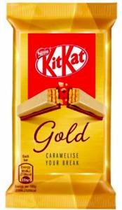 Nestle Kit Kat Gold Caramel 4 Finger 27 x 41.4g Bars Best Before End 07/2021