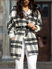 Finders Keepers BLACK & WHITE Tartan fermi Cocoon Giacca Cappotto Nuovo 10 12