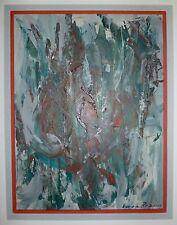 Vera Braun Huile sur toile signée art abstrait abstraction artiste hongroise