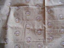 """coupon tissu  enfant  """" petits oursons,lapins """"     76 X 78 cm"""