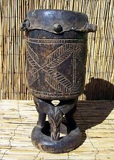"""African Kweie Drum from Cameroon  18"""" Tall"""