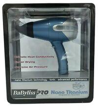 BaByliss PRO BABNT5550 Nano Titanium Professional Hair Dryer - Blue - New