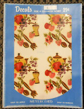 Vintage Meyercord Decals X170A Fruit Kitchen Mid-Century Modern - 4 Decals