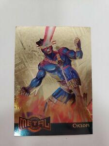 1995 Marvel Metal Card - cyclops gold blaster 3