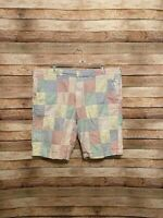 Brooks Brothers 346 Mens Plaid Multicolor Patchwork Casual Shorts 38 Madras