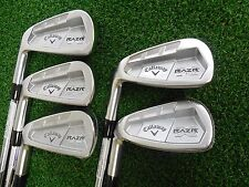 NEW LH CALLAWAY RAZR X FORGED IRON SET 3.5.6.8.PW PROJECT X 6.0 STEEL IRONS