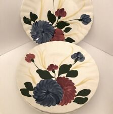 Set of 4 Blue Ridge Southern Potteries Hand Painted Floral Dinner Plates
