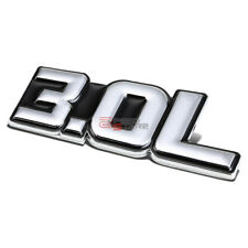 AUTO METAL BUMPER TRUNK GRILL EMBLEM STICKER LOGO BADGE CHROME BLACK 3.0 3.0L