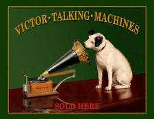 "22"" X 17"" Reproduced Victor Phonographs ""Sold Here"" Canvas Banner"