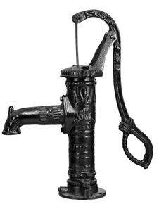 Vintage hand water Pump Cast Iron Well Pond Garden Outdoor Yard  30L/min